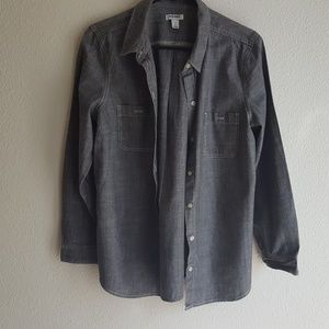 Old Navy Button Down Jean Shirt w/ roll-up cuffed